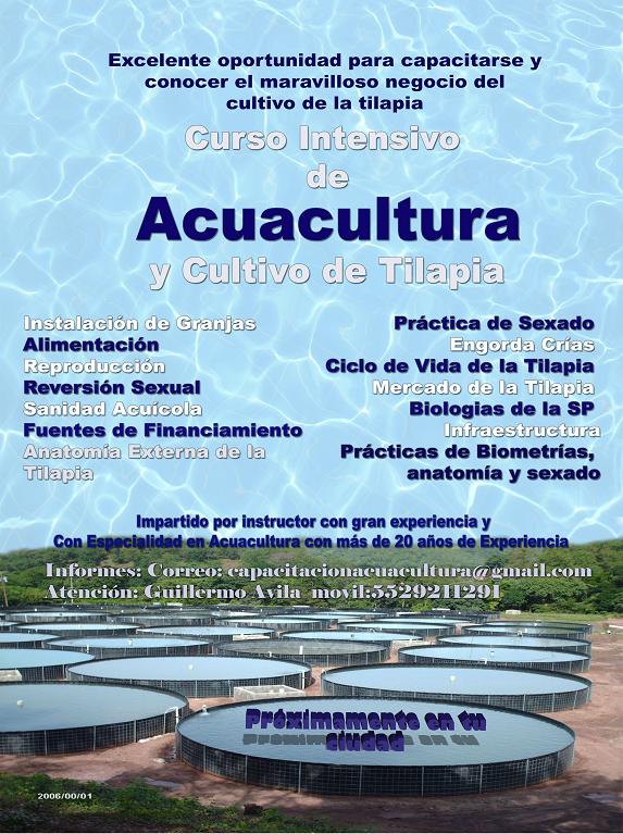 Curso Intensivo de Acuacultura y Cultivo de Tilapia