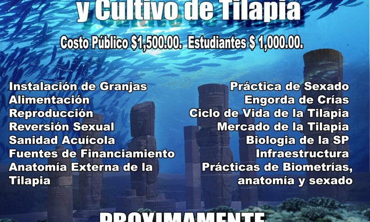 Curso de capacitación empresarial en cultivo de tilapia en el Estado de Hidalgo